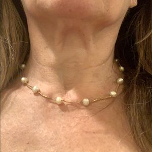 Jewelry - 14k gold and pearl necklace